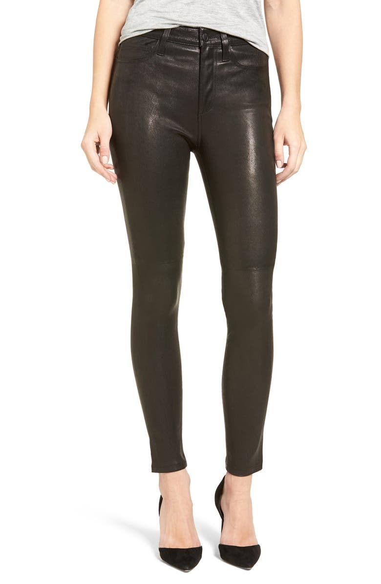 women how to purchase Sales promotion Joe's Jeans Charlie Lambskin Leather Skinny Pants | Nordstrom