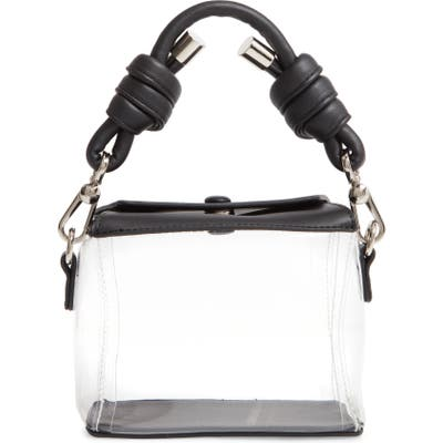 Knotty Plastic Takeout Clear Top Handle Bag - Black