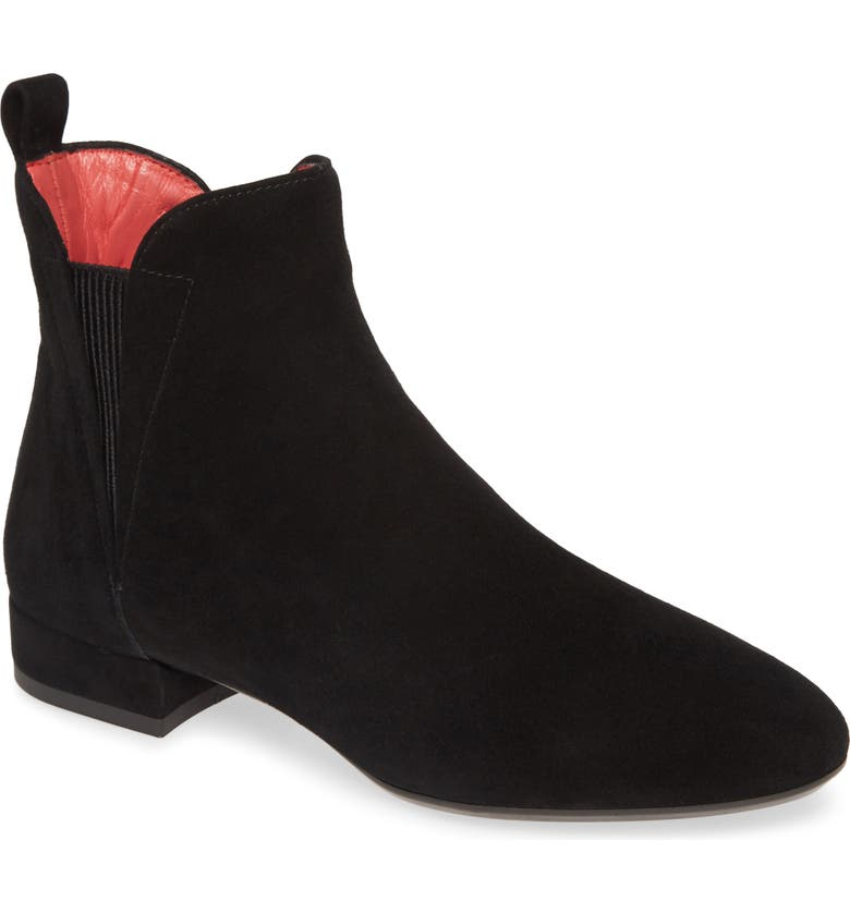 PAS DE ROUGE Daria Chelsea Bootie, Main, color, BLACK SUEDE