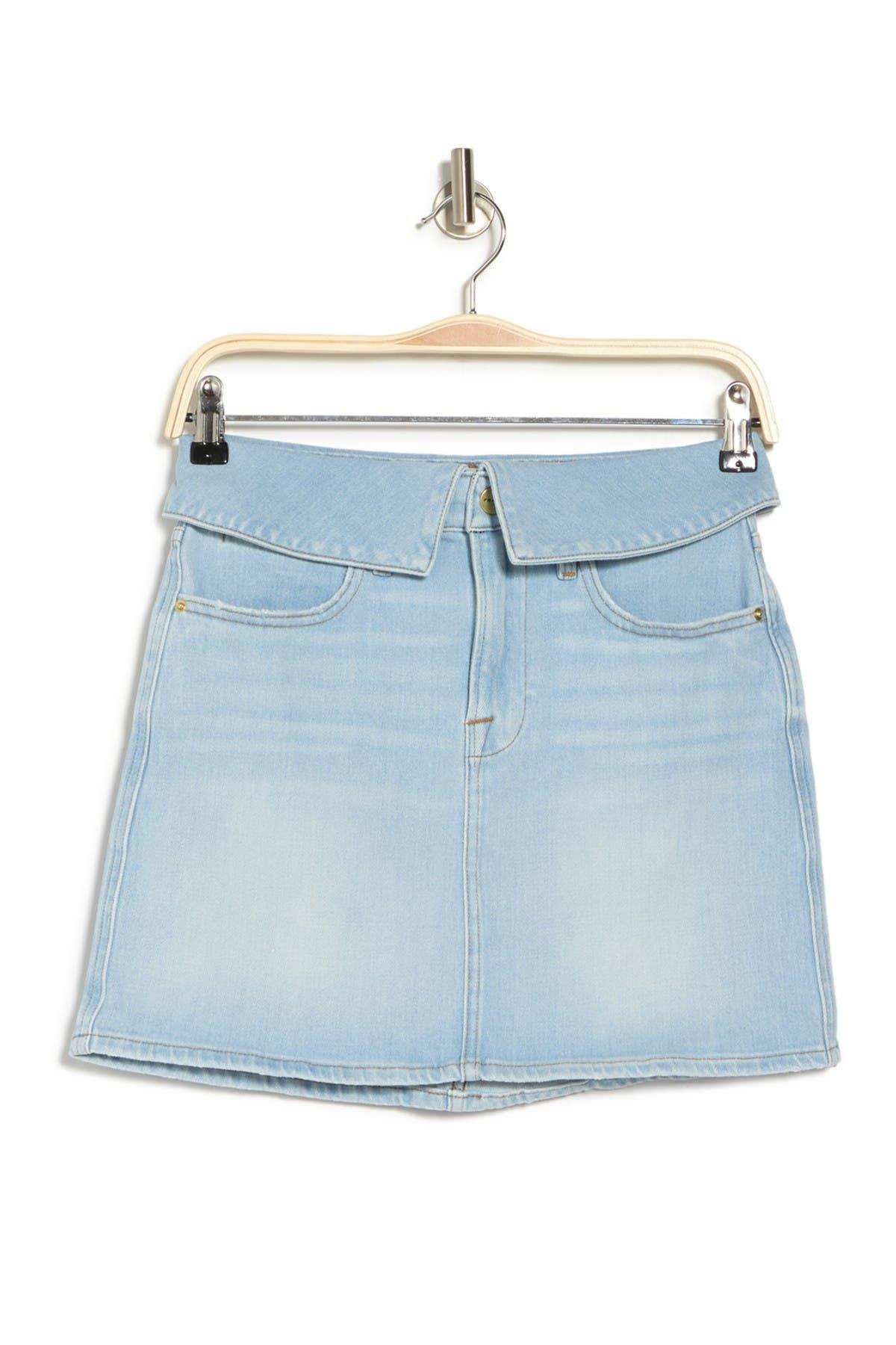 Image of FRAME Le High Mini Fold Over Skirt