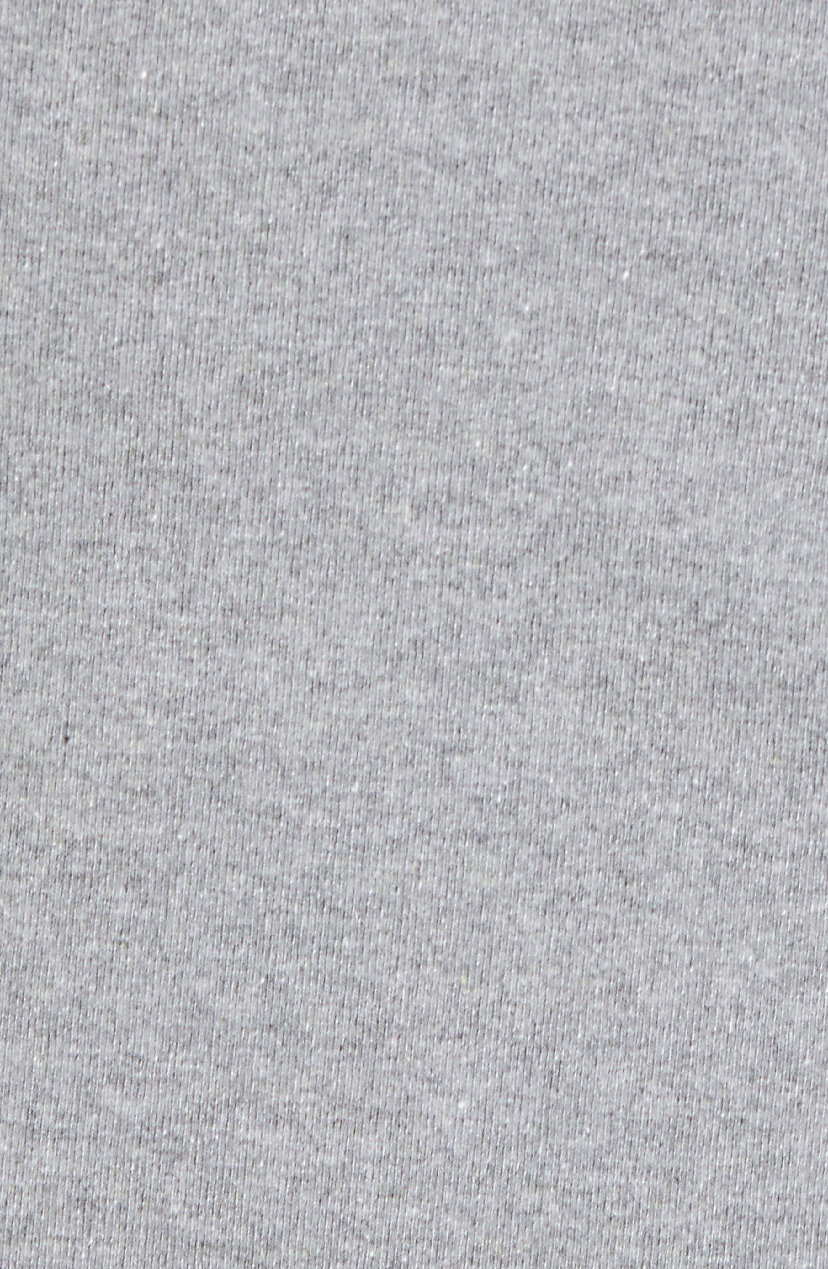,                             Shop Sticker Patch Uprisal Crew Sweatshirt,                             Alternate thumbnail 5, color,                             GRAVEL HEATHER
