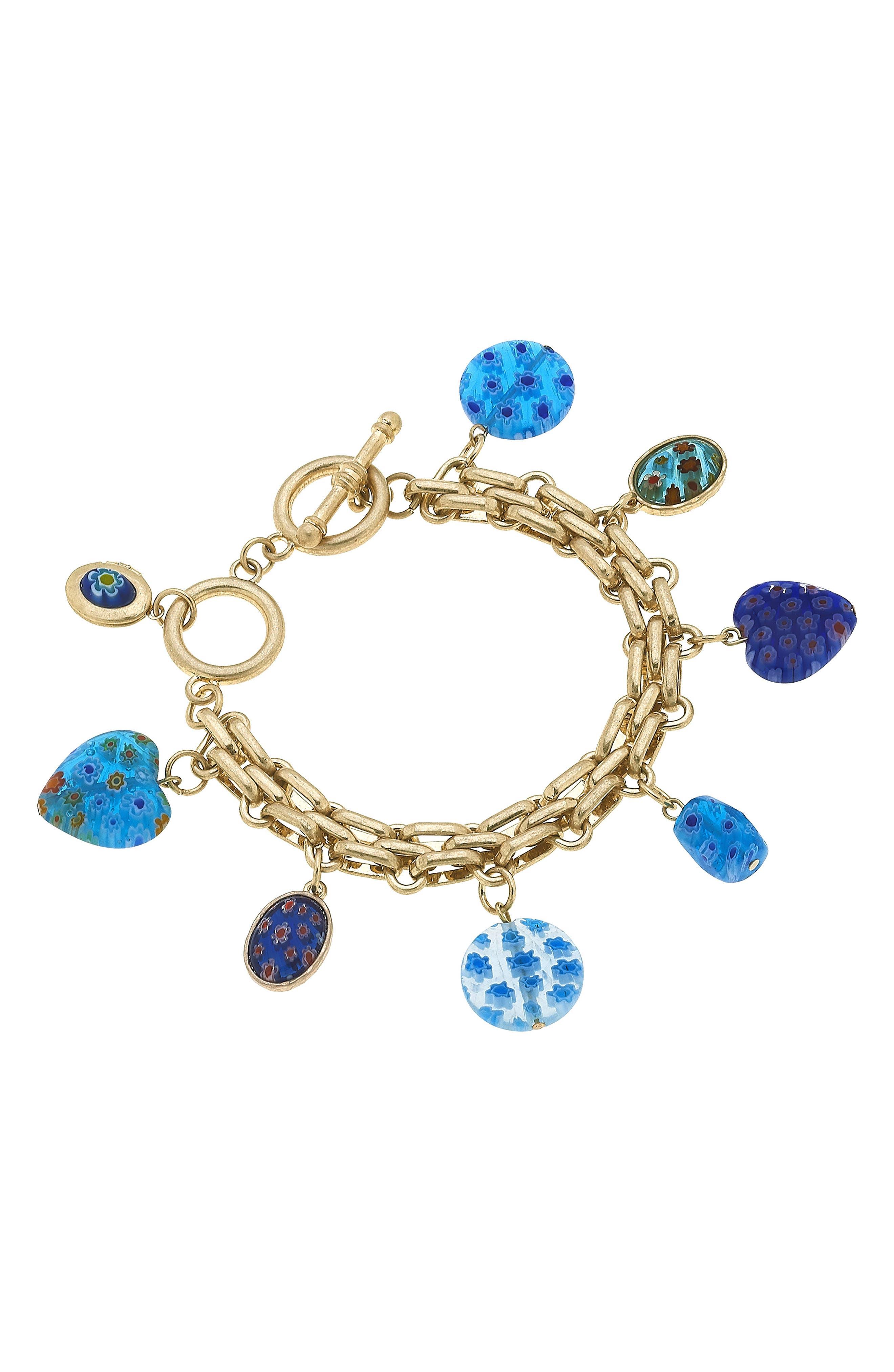Millefiori Charm Bracelet