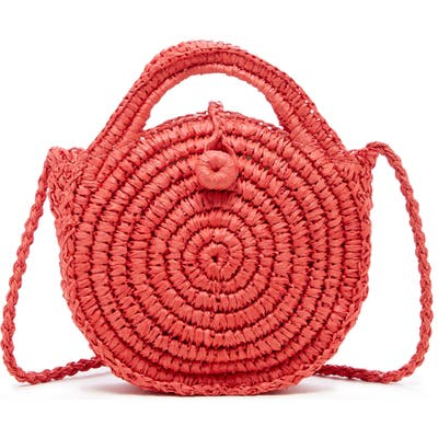 Sole Society Corby Woven Papyrus Bag - Red