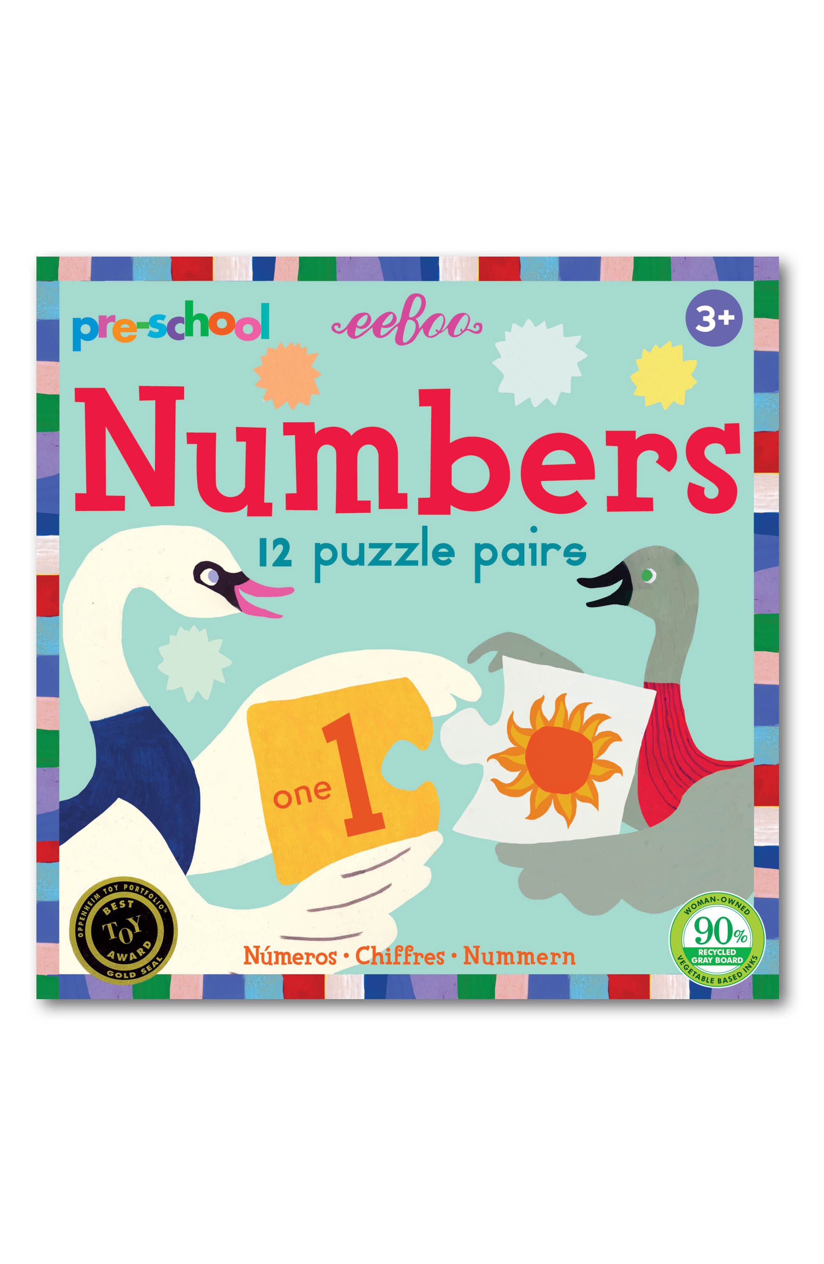 Eeboo Preschool Puzzle Pairs Play Set