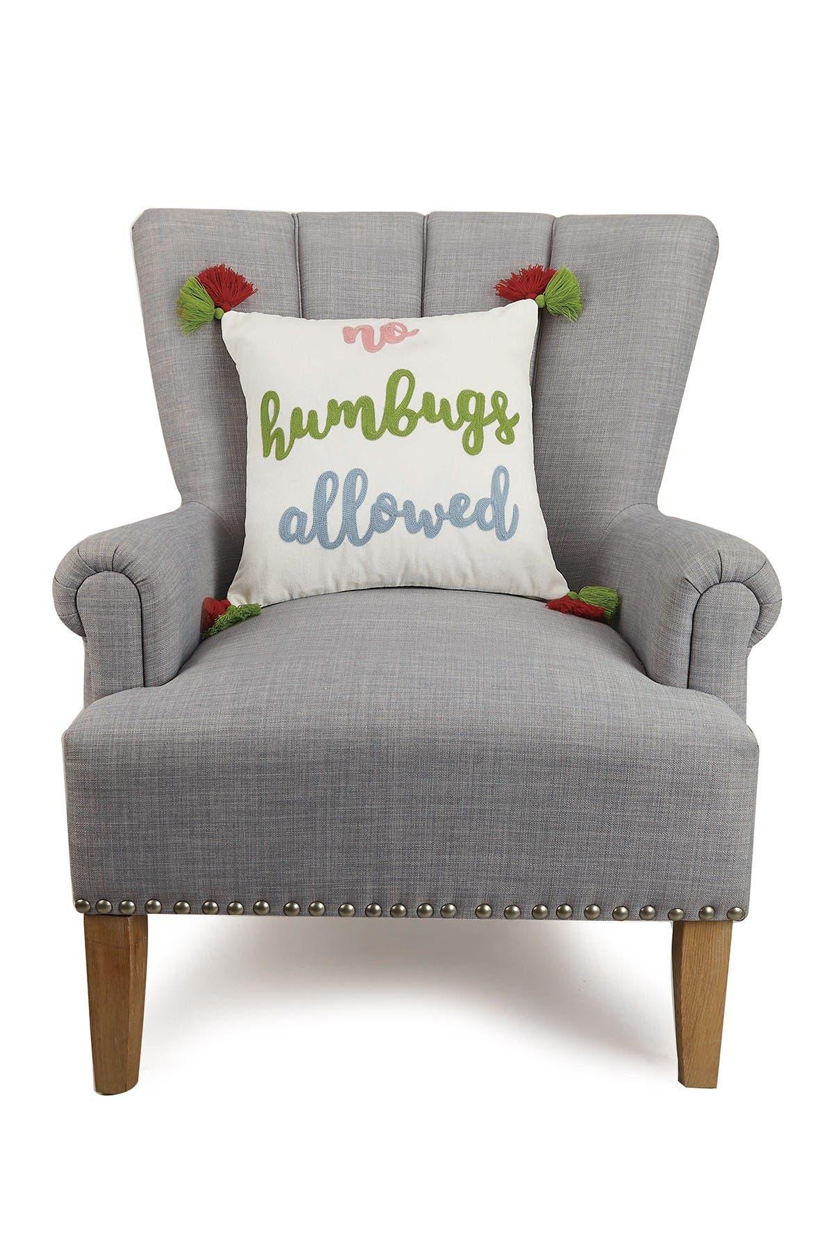 Image of Peking Handicraft Multi No Humbugs Crewel Stitch Tassel Trim Pillow