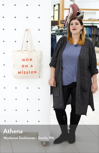 Mom on a Mission Canvas Tote, sales video thumbnail