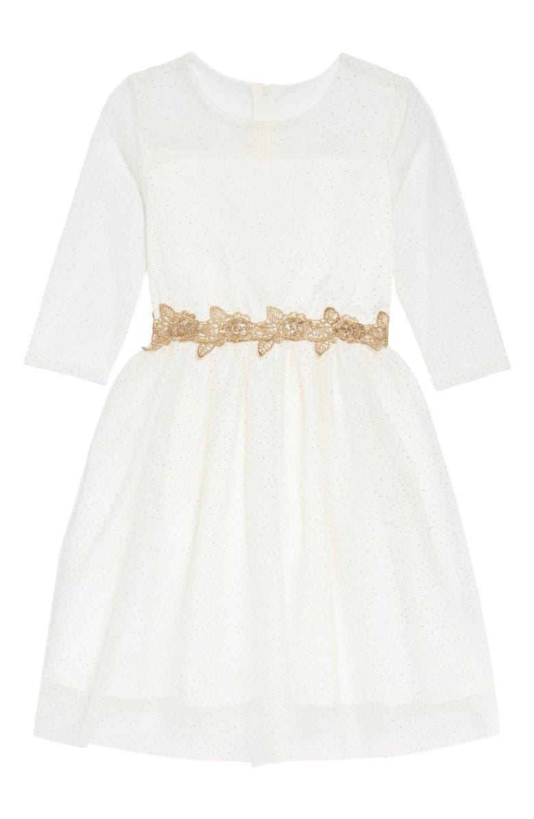 67f86ec7b9 Little Angels Glitter Mesh Dress (Toddler Girls & Little Girls ...