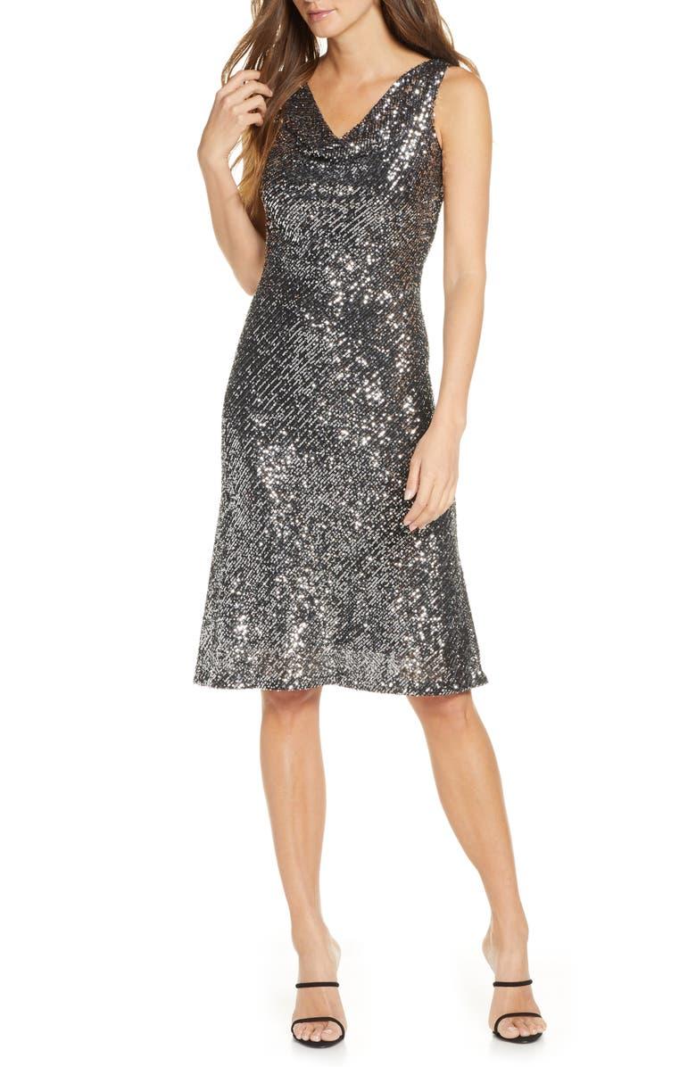 TAYLOR DRESSES Sleeveless Sequin A-Line Dress, Main, color, 040