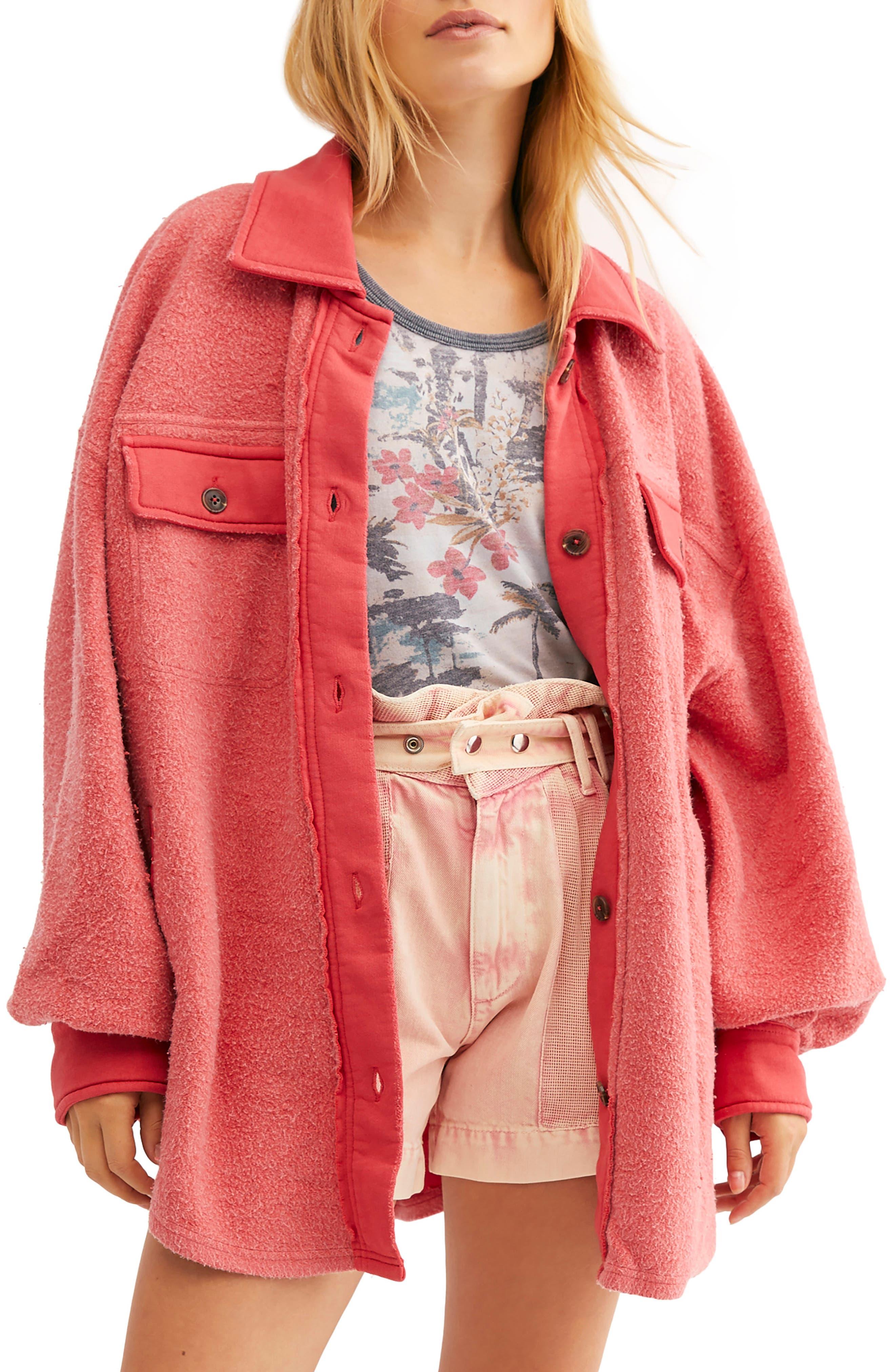 Free People Ruby Oversize Jacket Washed Black NEW RRP £108