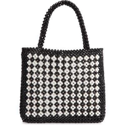 Trouve Beaded Tote Bag - Black