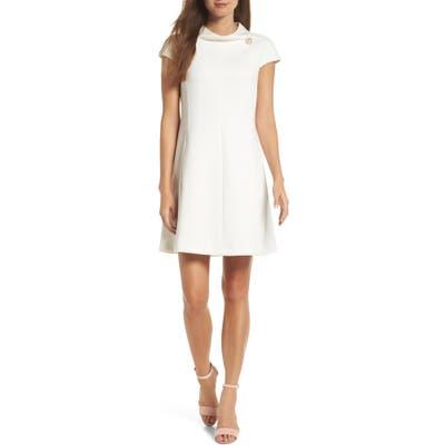 Harper Rose Stand Collar A-Line Dress, Ivory