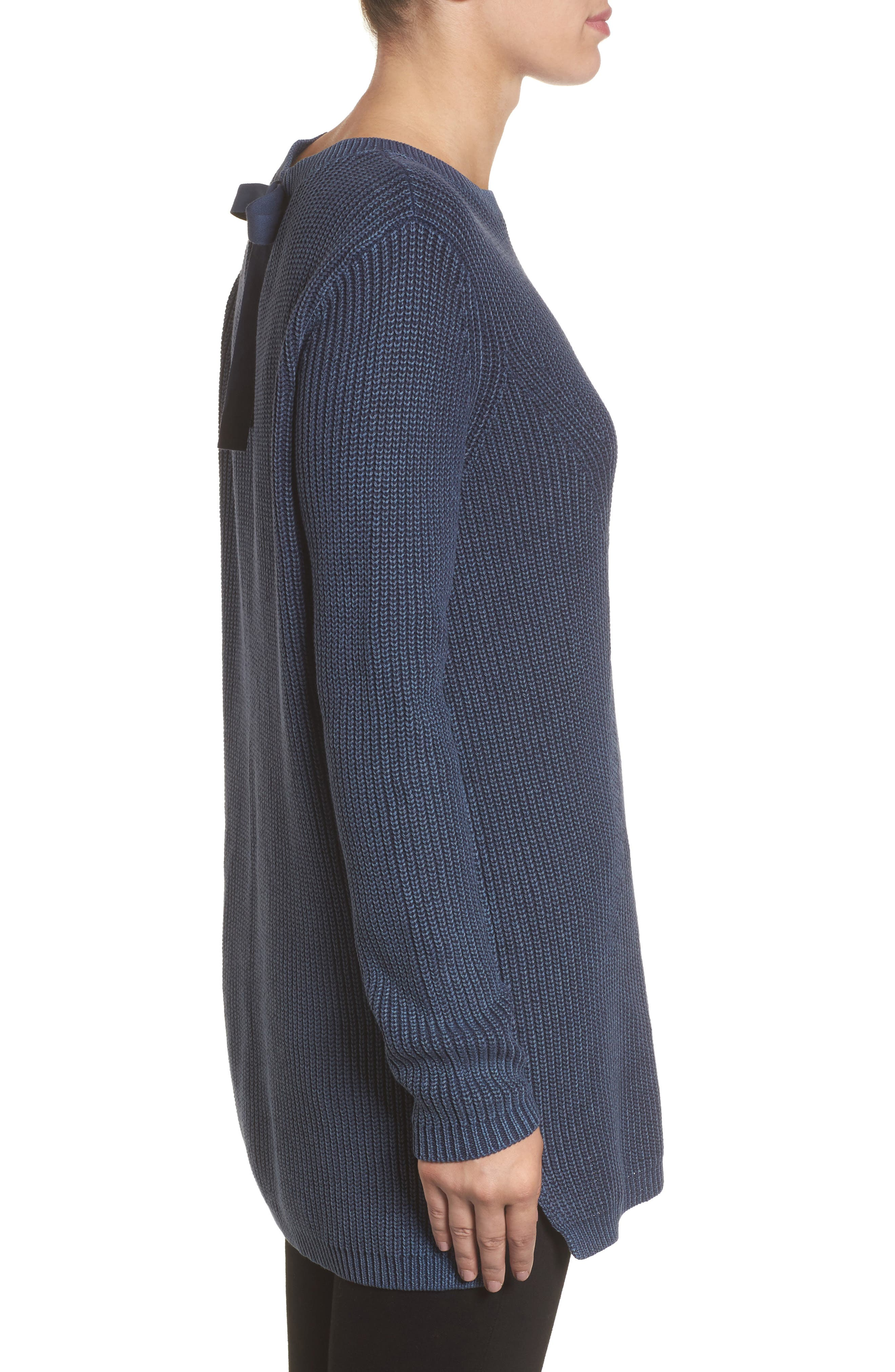 ,                             Tie Back Tunic Sweater,                             Alternate thumbnail 45, color,                             410