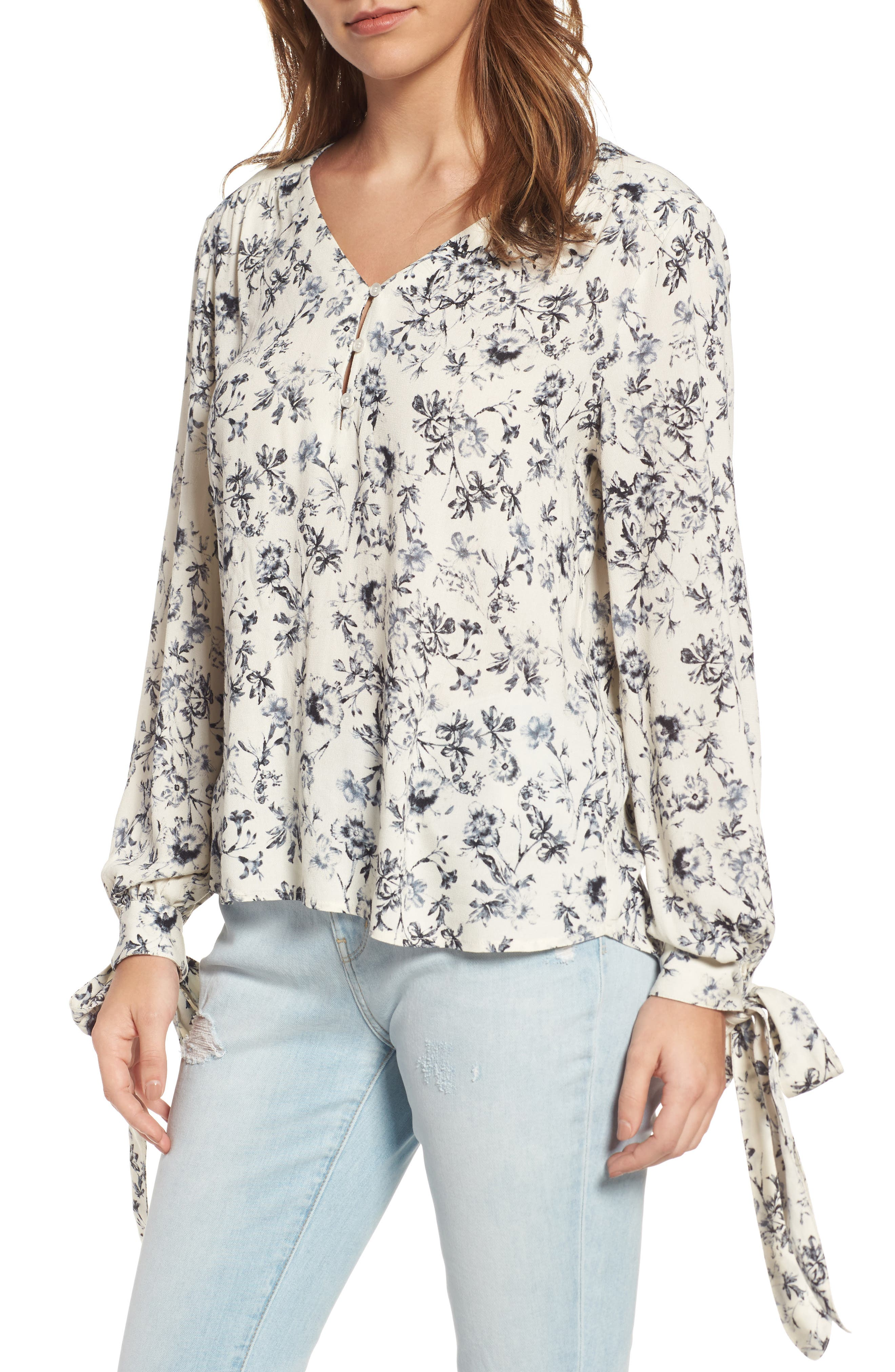 ,                             Tie Sleeve Top,                             Main thumbnail 13, color,                             900
