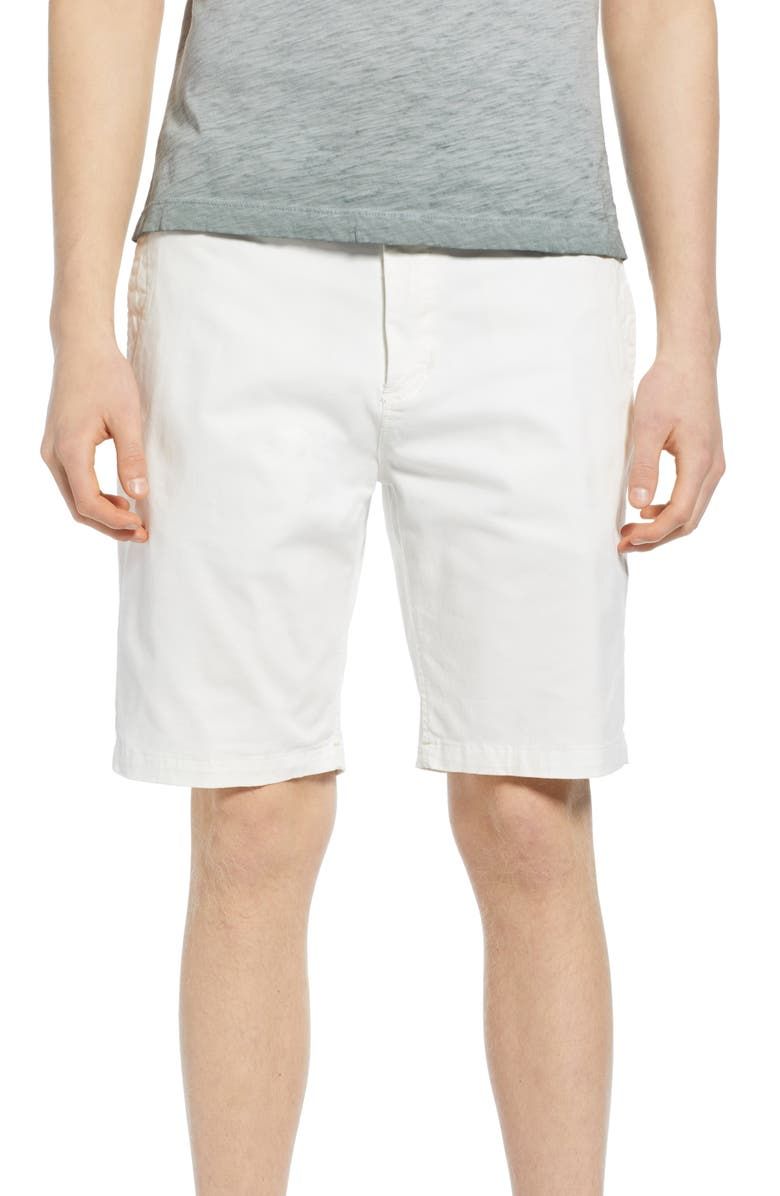 SCOTCH & SODA Classic Print Chino Shorts, Main, color, DENIM WHITE