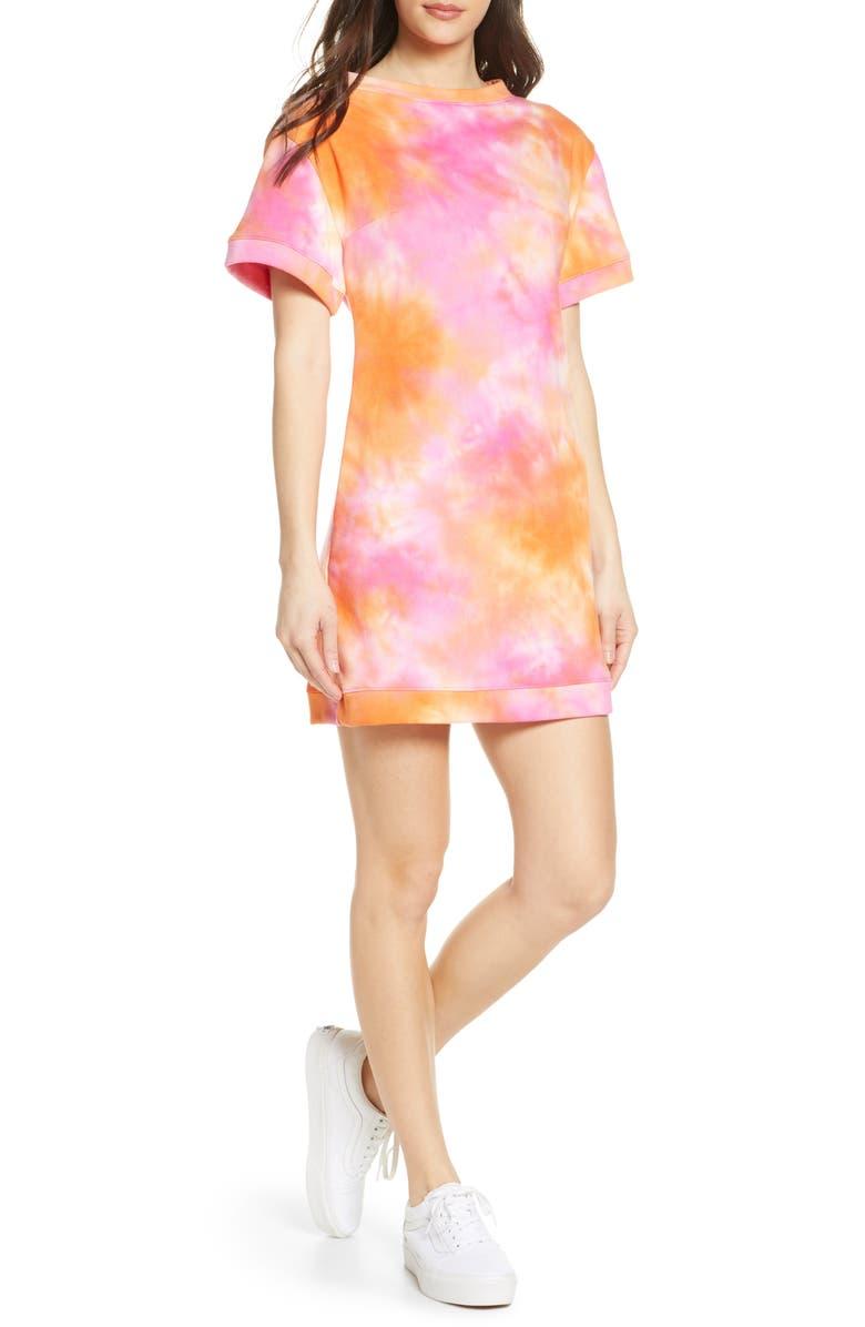 FRAICHE BY J Tie Dye Sweatshirt Dress, Main, color, KEMI