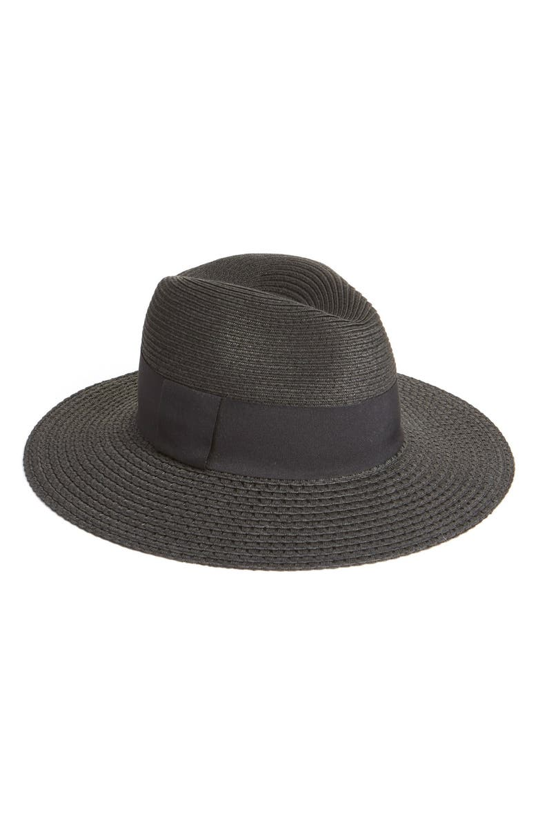 NORDSTROM Wide Brim Straw Panama Hat, Main, color, 001