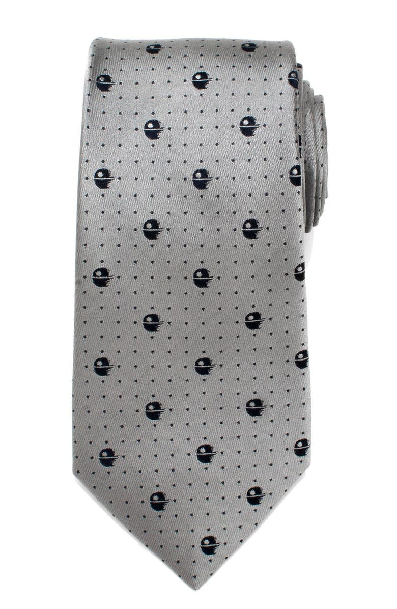 CUFFLINKS, INC. 'Star Wars - Death Star II' Silk Tie, Main, color, GRAY