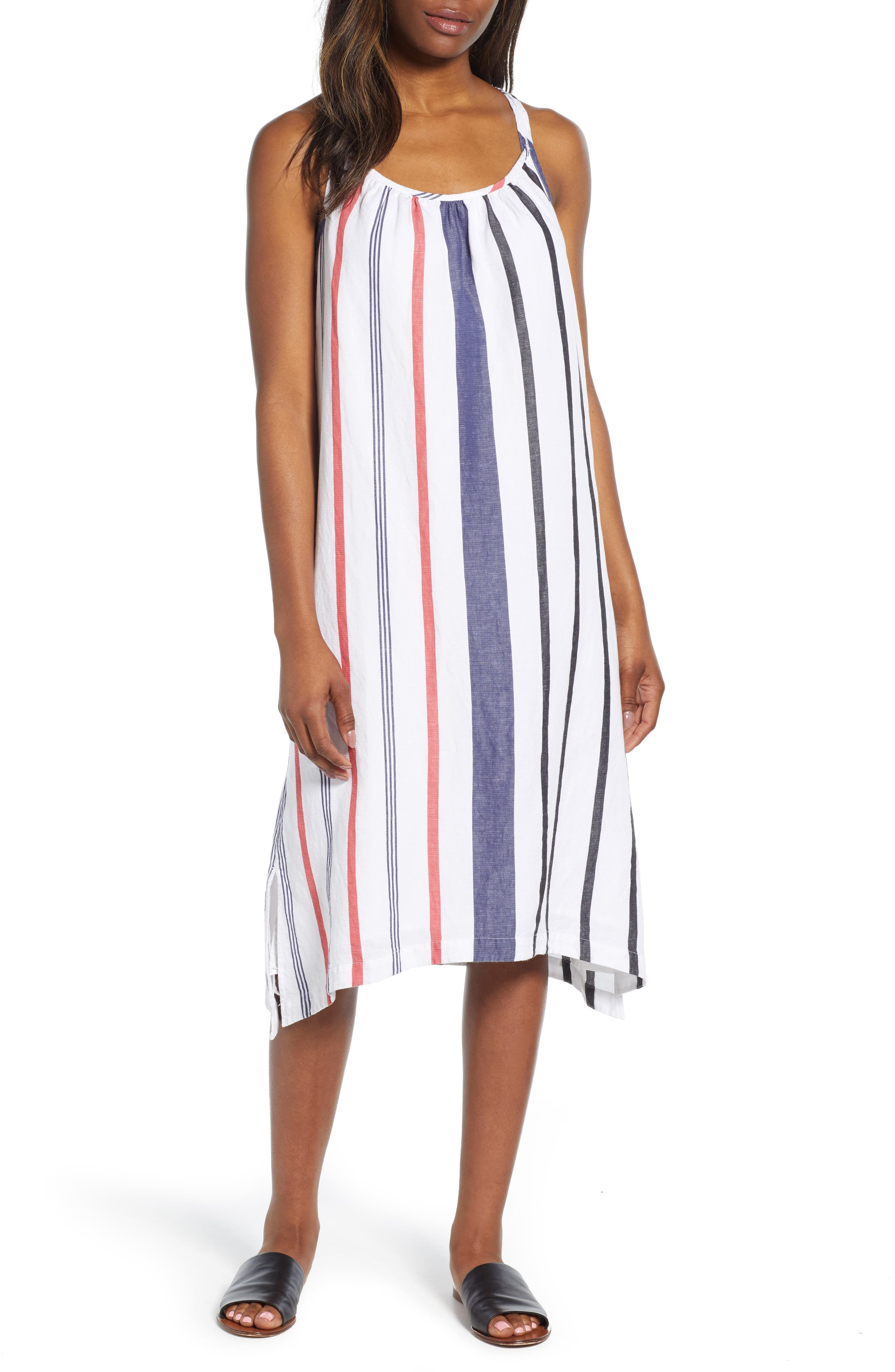 Tommy Bahama Amalia Stripe Midi Sundress, White