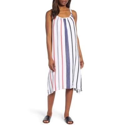 Tommy Bahama Amalia Stripe Midi Sundress, White