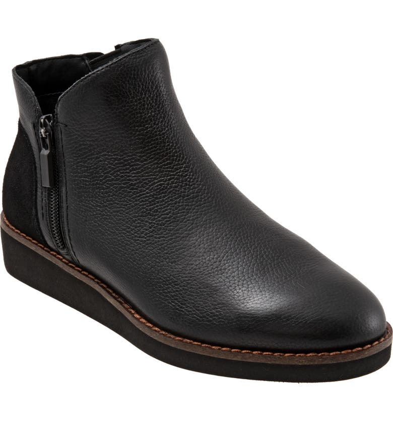 SOFTWALK<SUP>®</SUP> Wesley Bootie, Main, color, BLACK LEATHER