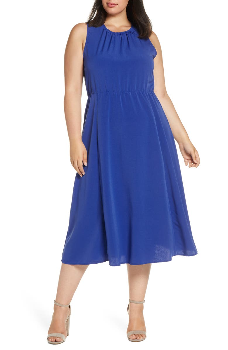 BOBEAU Francis Tie Back Dress, Main, color, CLASSIC BLUE