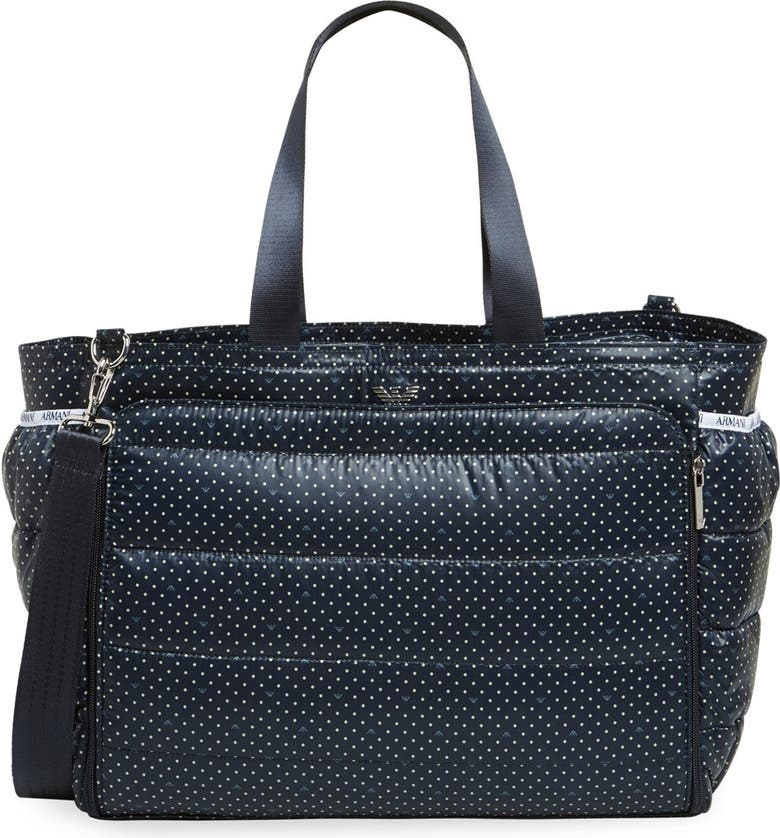 Armani Junior Padded Polka Dot Diaper Bag Nordstrom
