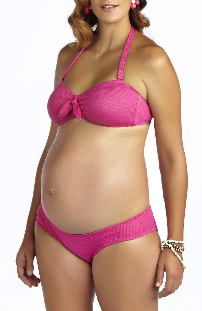 PEZ D'OR 'Rimini' Textured Maternity Bikini, Main, color, 671