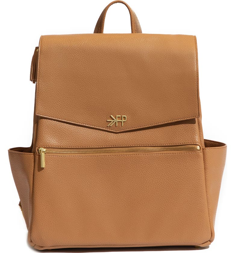 FRESHLY PICKED Water Resistant Convertible Diaper Backpack, Main, color, BUTTERSCOTCH