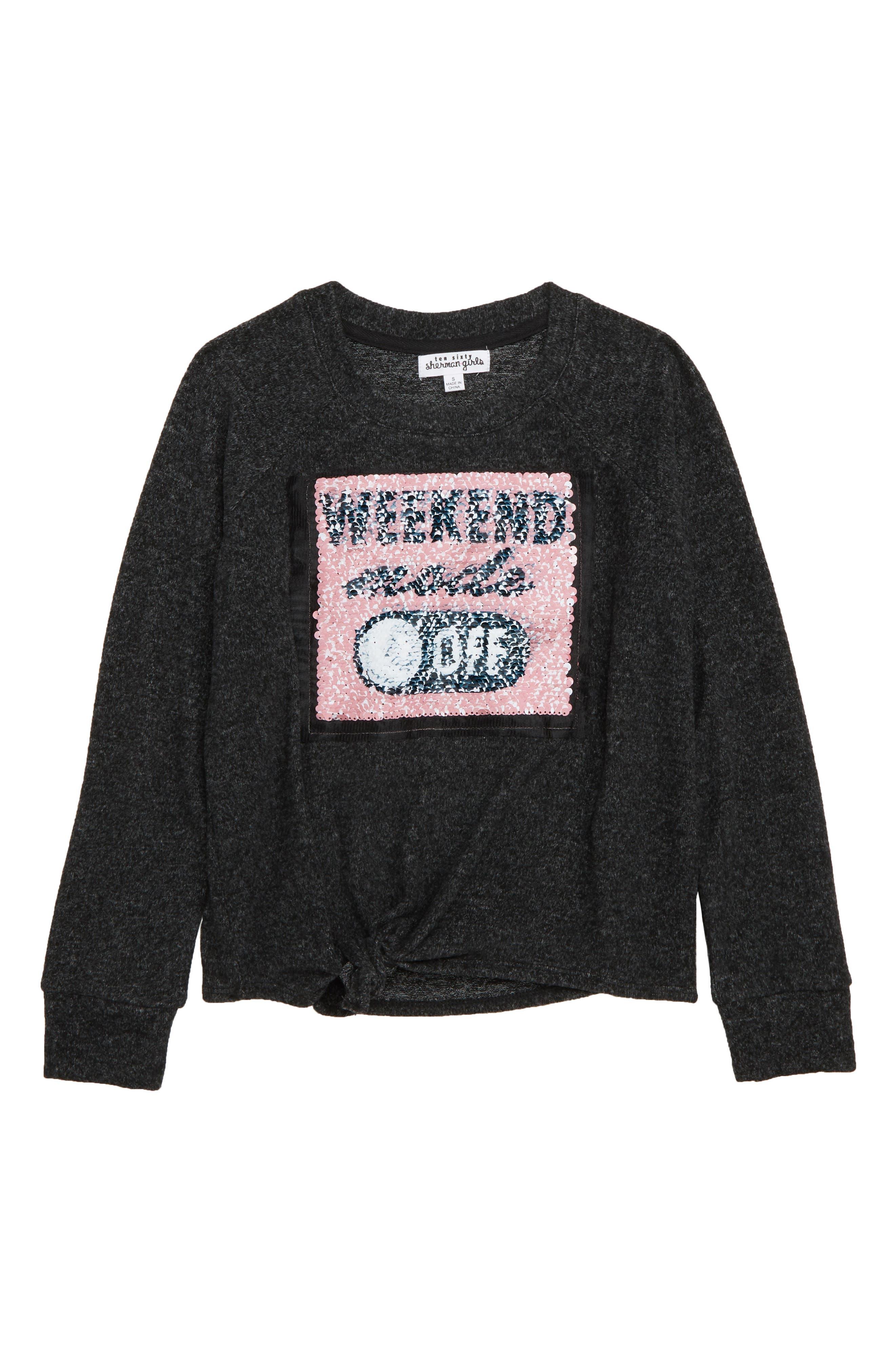 ,                             Weekend Mode Flip Sequin Fleece Top,                             Alternate thumbnail 2, color,                             031
