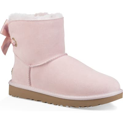 UGG Customizable Bailey Bow Mini Genuine Shearling Bootie, Pink