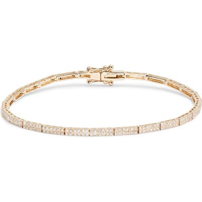 Ef Collection Double Row Diamond Eternity Bracelet