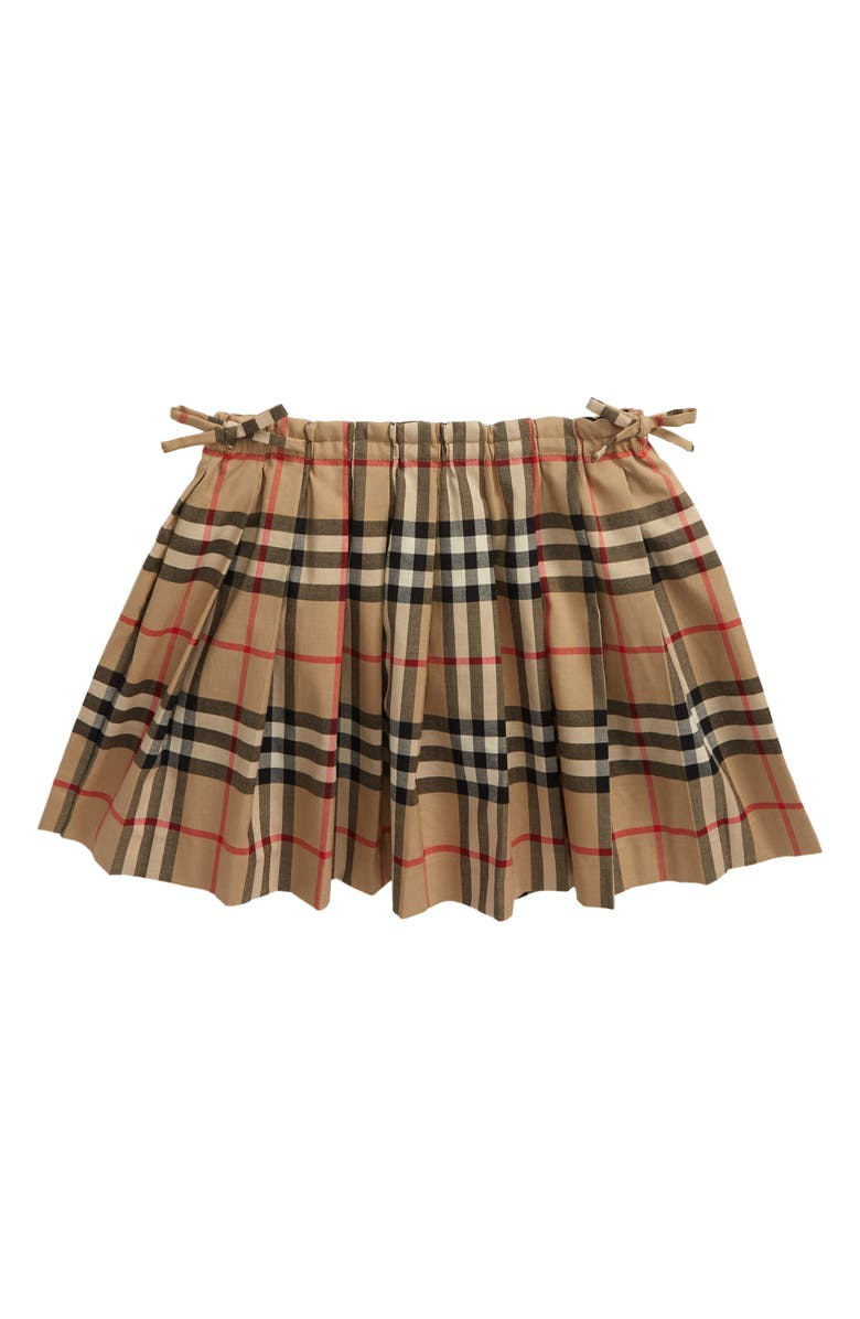BURBERRY Pearly Check Skirt, Main, color, 250