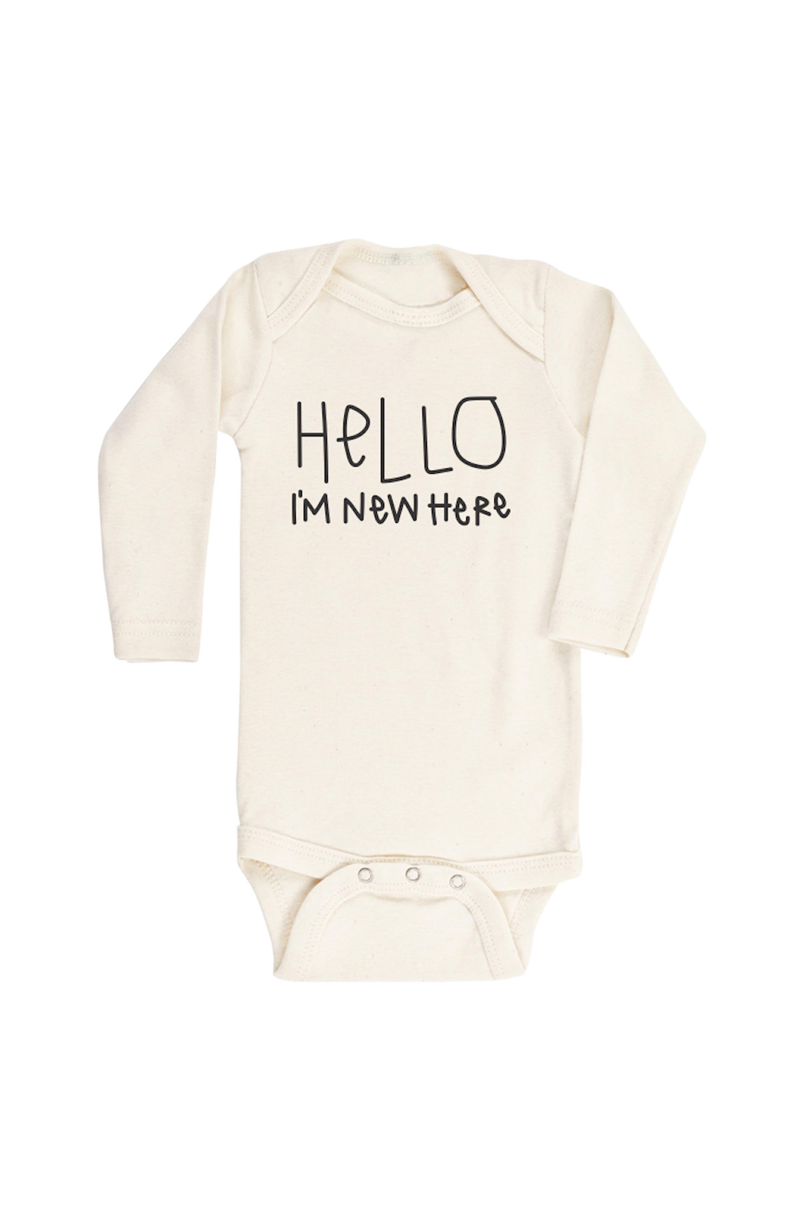 Baby Romper Im Fine 100/% Cotton Long Sleeve Infant Bodysuit
