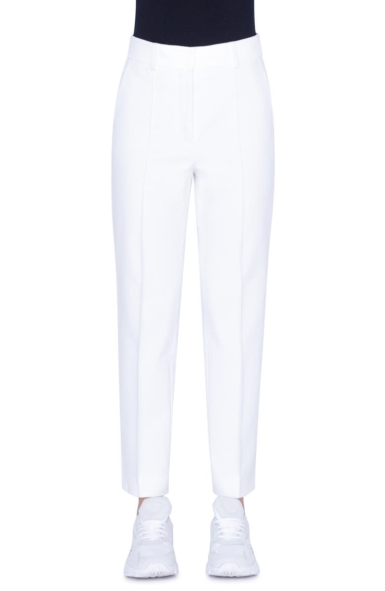 AKRIS PUNTO Ferry High Waist Jersey Pants, Main, color, CREAM
