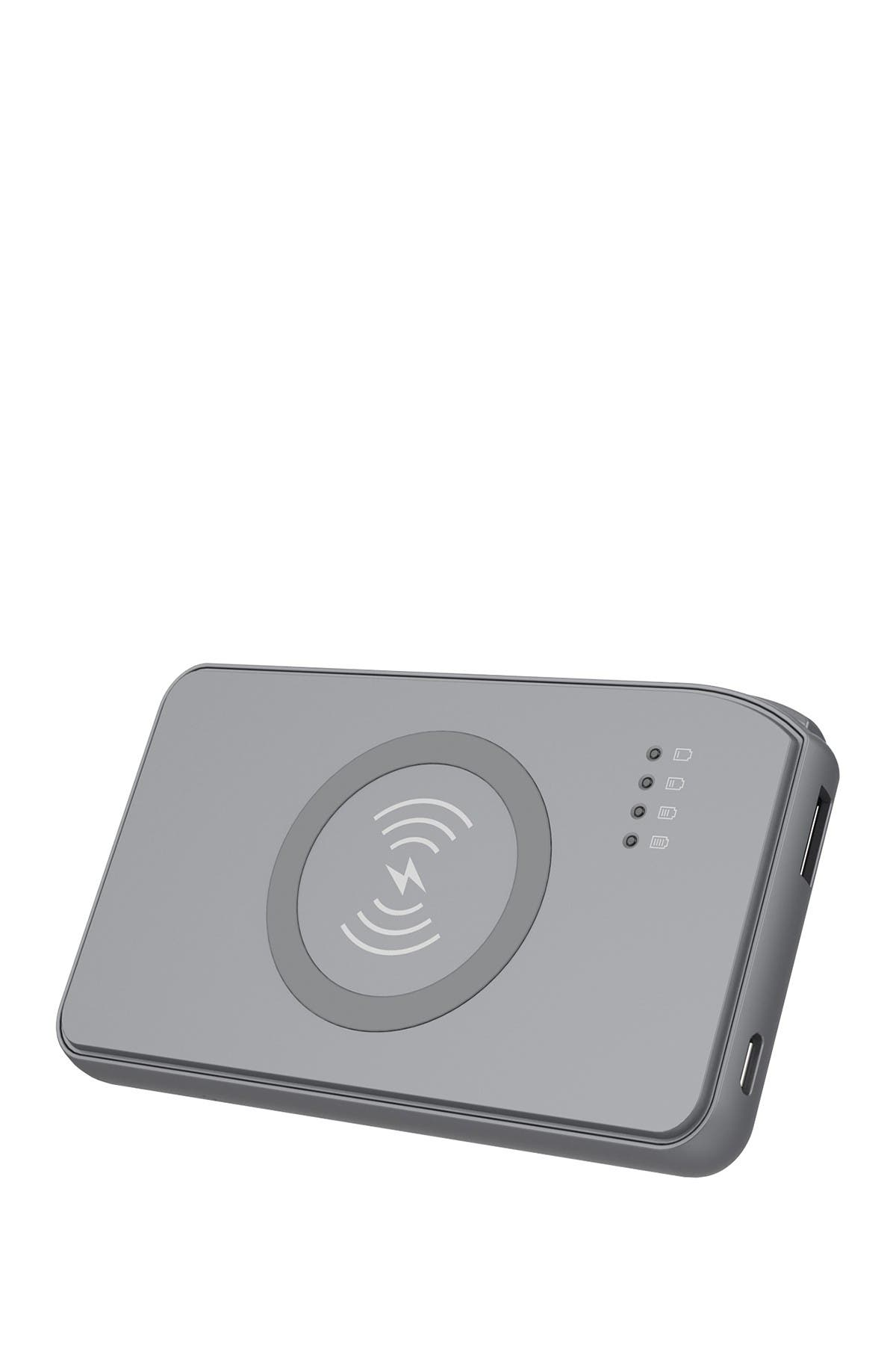 Image of Tech Elements Space Grey Power bank with wireless charger in-Space Grey