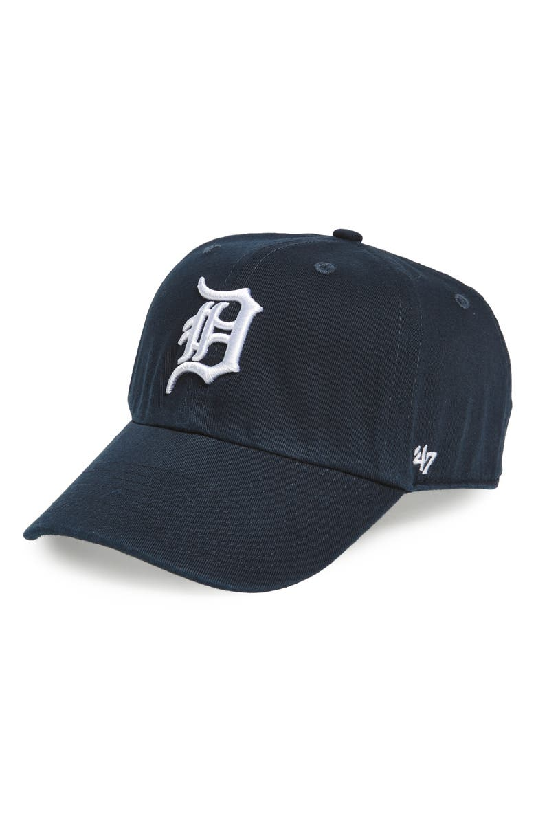'47 Clean Up Detroit Tigers Baseball Cap, Main, color, NAVY