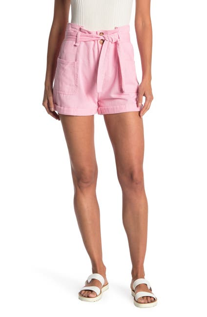 Image of Elodie Denim Shorts With Pockets