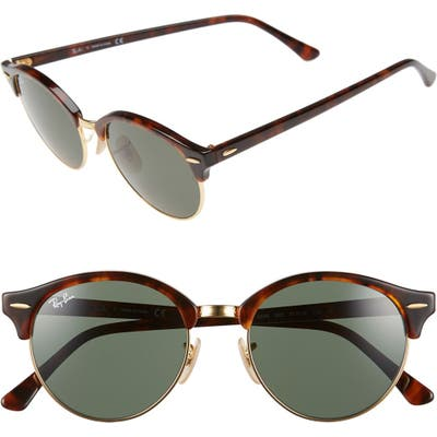 Ray-Ban Clubround 51Mm Round Sunglasses -