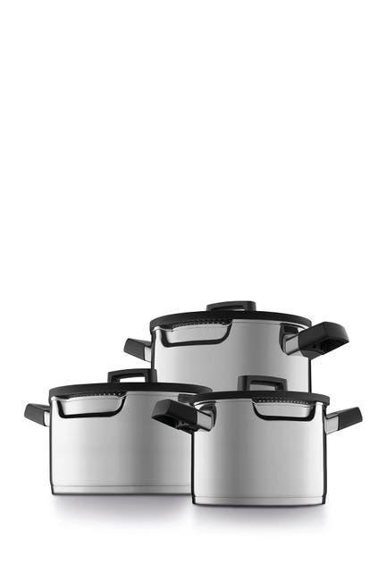 Image of BergHOFF Gem 18/10 SS Cookware 7-Piece Set - Downdraft