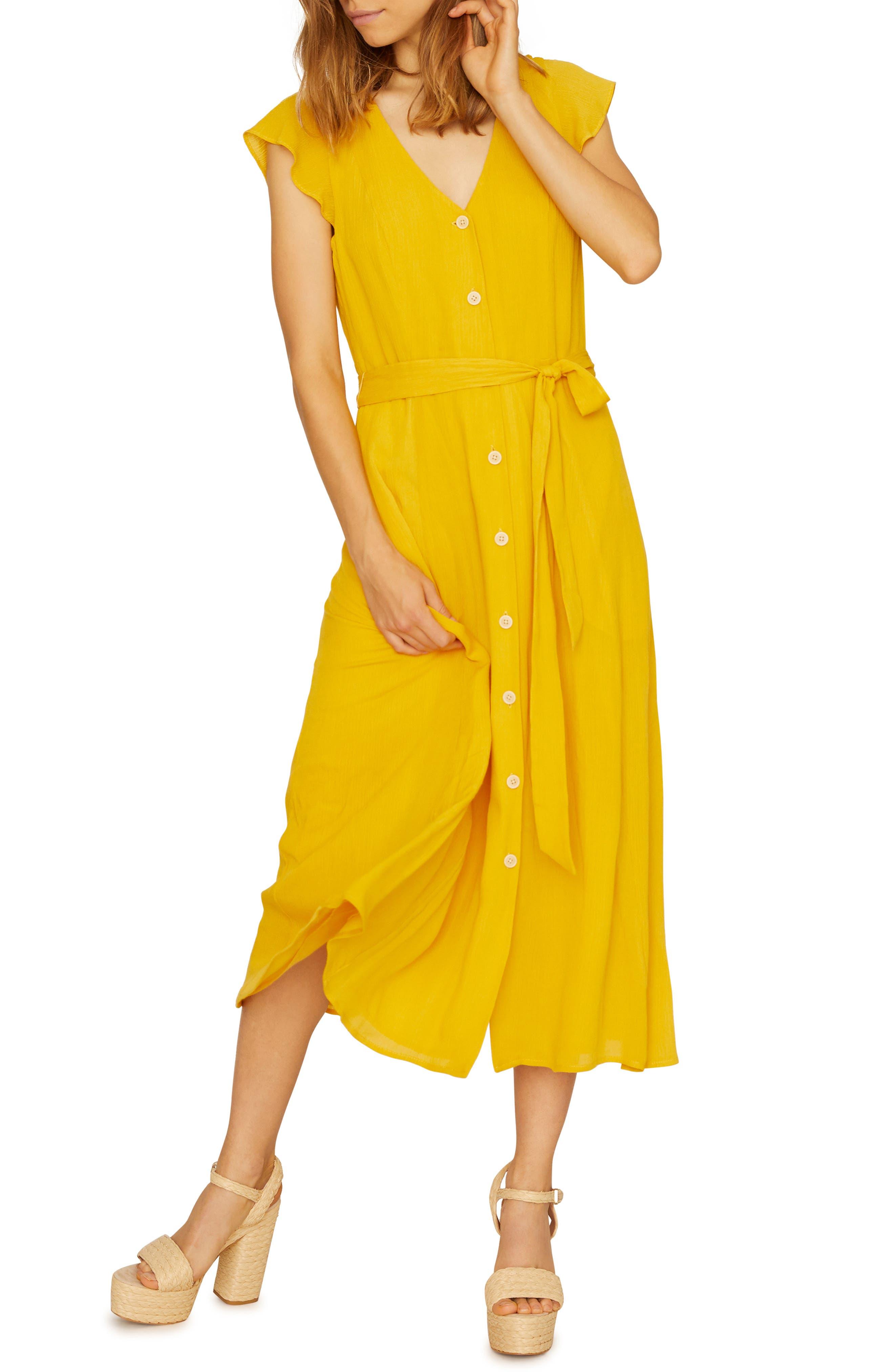 Sanctuary Eden Front Button Midi Dress