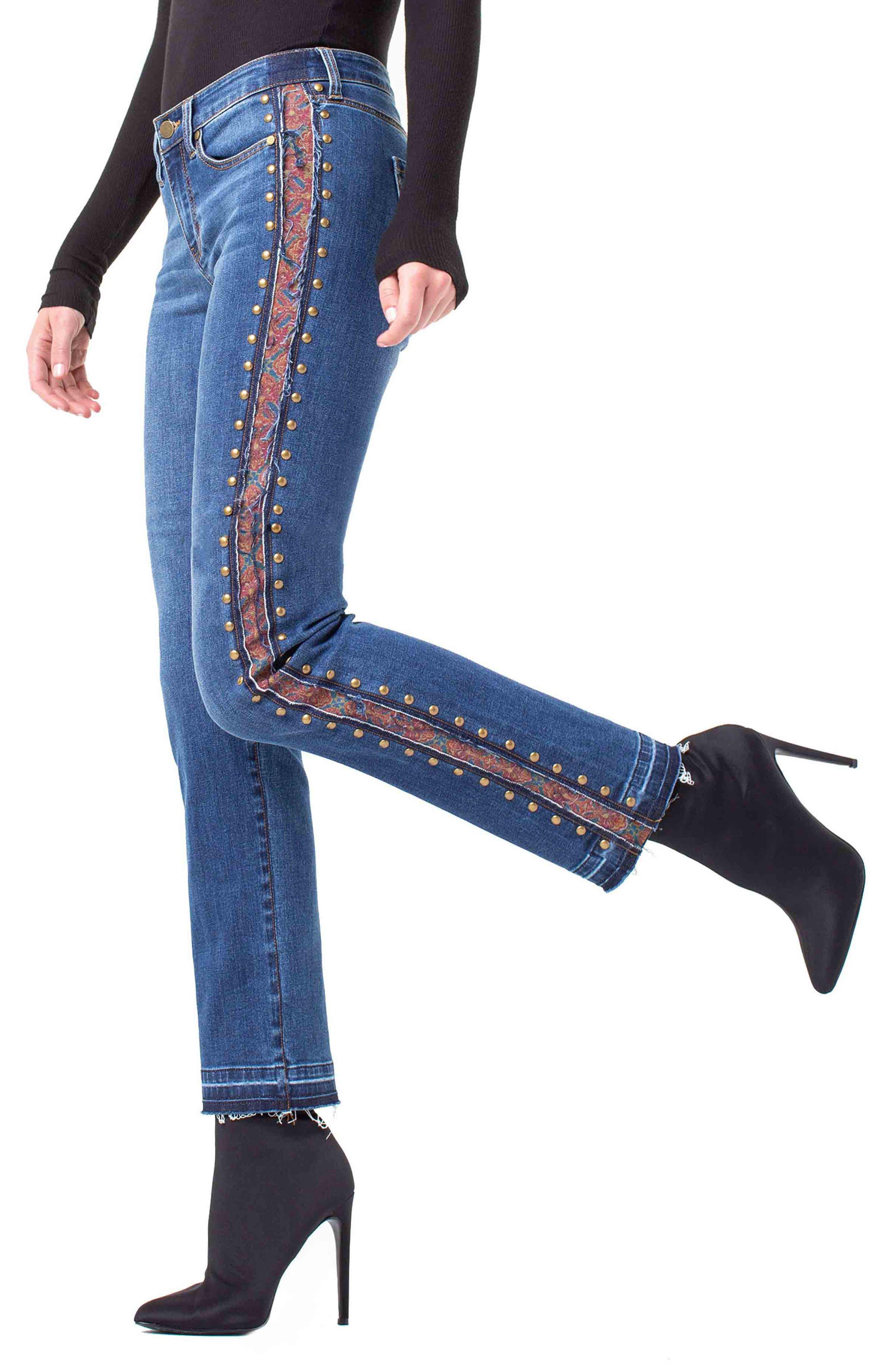 ,                             Colette Embellished Ankle Jeans,                             Alternate thumbnail 5, color,                             403