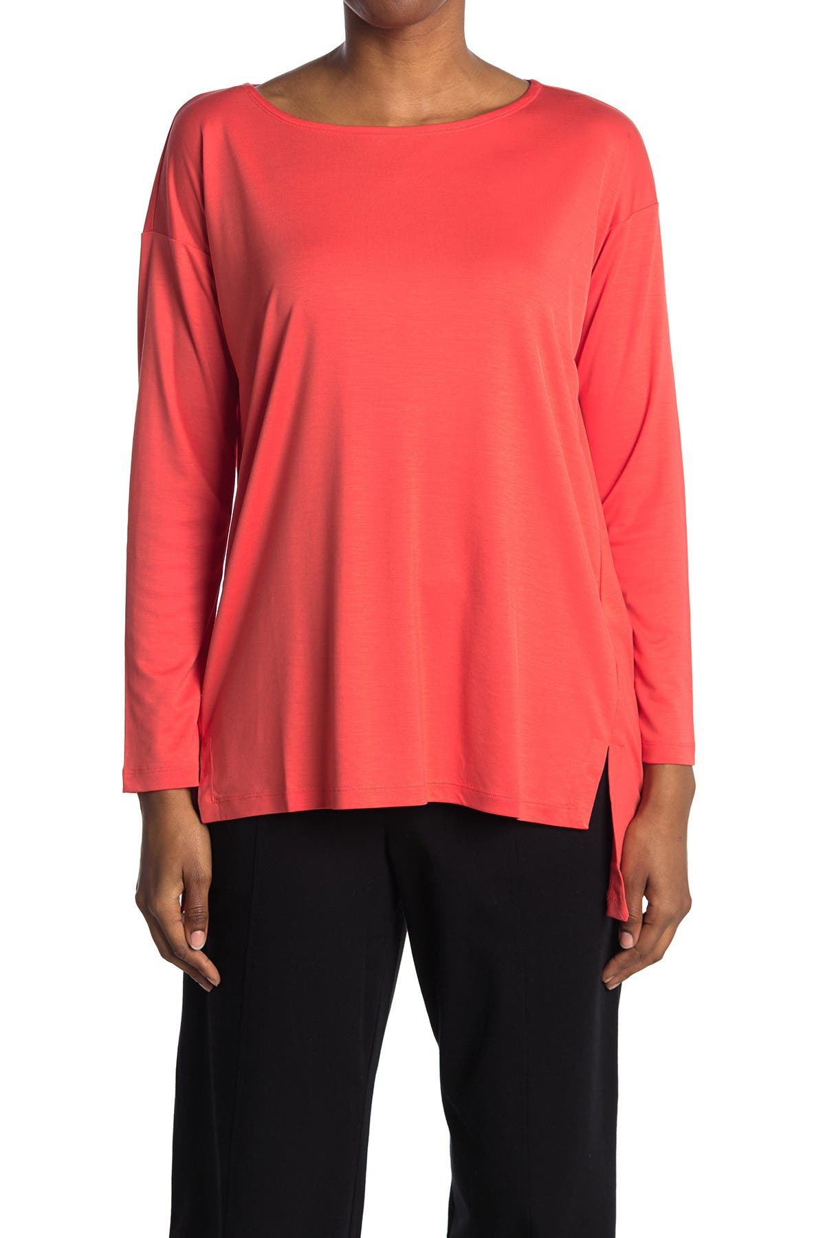 Image of Eileen Fisher Ballet Neck Box Top