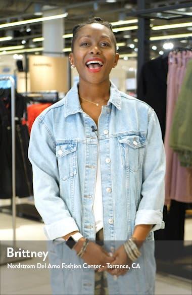 Margo Stripe Shirtdress, sales video thumbnail