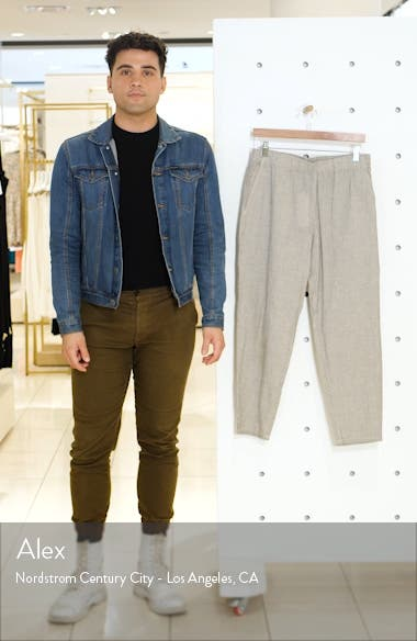 Tapered Stripe Organic Cotton Blend Pants, sales video thumbnail
