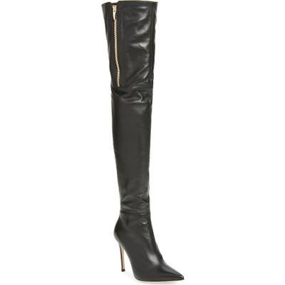 Gianvito Rossi Pointed Toe Over The Knee Boot - Black