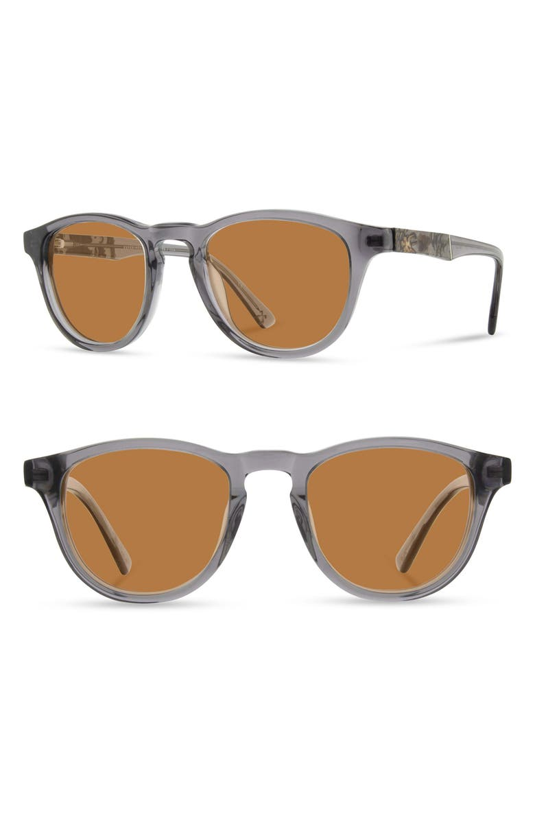 SHWOOD 'Francis' 49mm Polarized Sunglasses, Main, color, SMOKE/ PINECONE/ BROWN