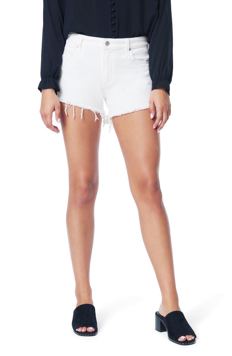 JOE'S The Ozzie Cutoff Denim Shorts, Main, color, WHITE