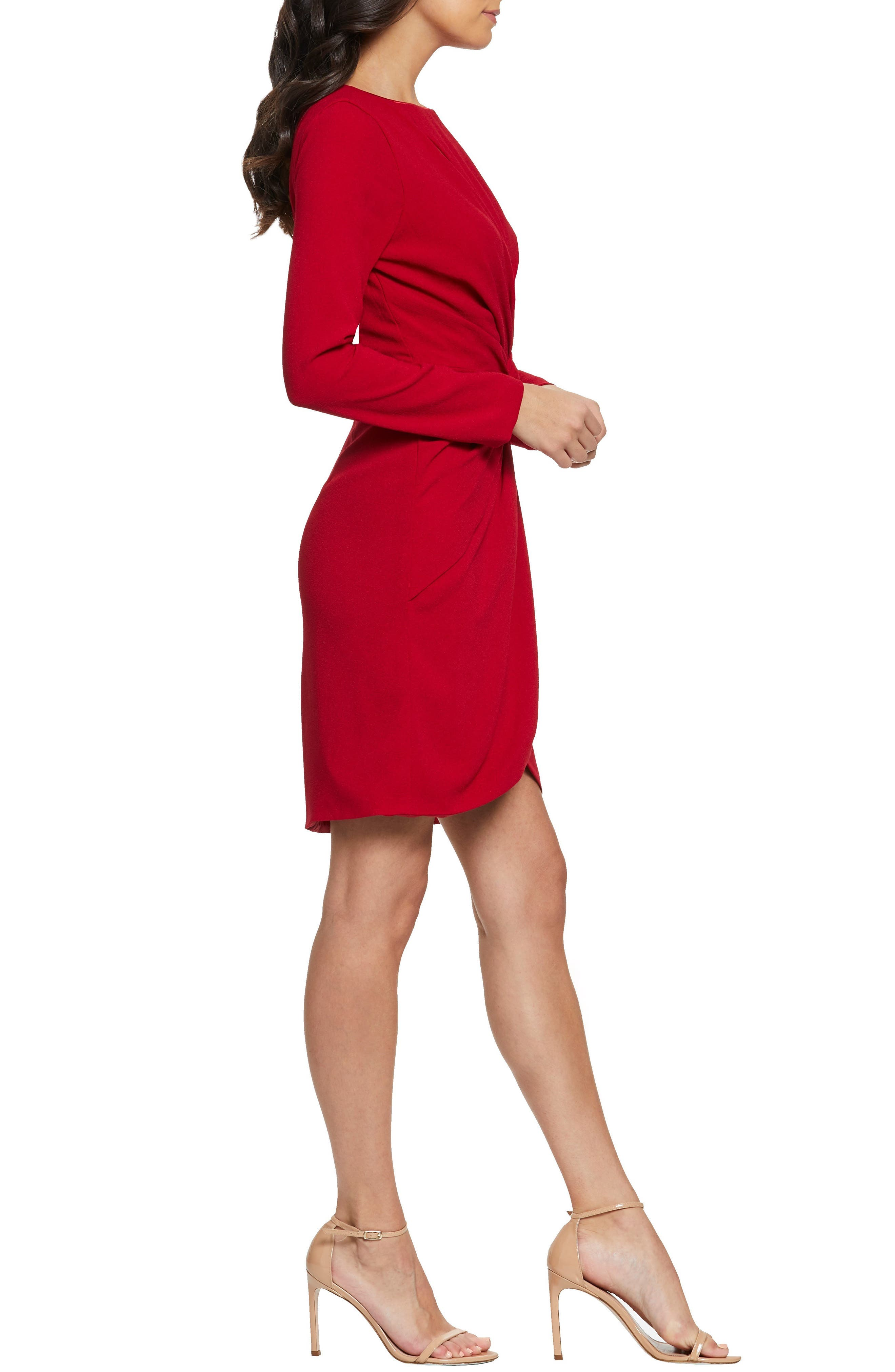 ,                             Coby Twisted Faux Wrap Cocktail Dress,                             Alternate thumbnail 17, color,                             600
