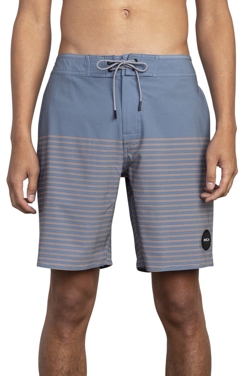 RVCA Curren Board Shorts, Main, color, BLUE SLATE