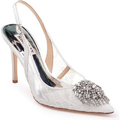 Badgley Mischka Laken Slingback Pump, White